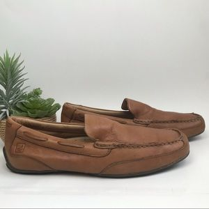 Sperry Top-Sider Moccasin Cognac Leather Sz 8.5